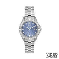 Citizen Watch - Women's Eco-Drive Diamond Stainless Steel - EW1920-53L #Kohls