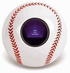 how fun is this! a magic 8 ball baseball style!