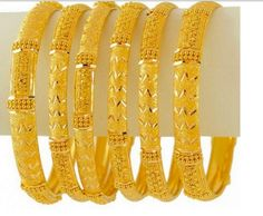 Emoo Fashion: Latest Fashion Gold Bangles Designs for Bridals Gold Bangles For Women, Gold Bangles Design, Jewelry Design, Designer Bangles, Indian Wedding Jewelry, Bridal Jewelry, Gold Jewelry, Gold Necklace, Indian Jewelry