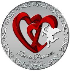 Niue 2013 $ 2 Love is Precious Two Blue Swallows 1Oz Silver Proof Coin