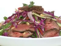 Five-spice beef and Vietnamese salad