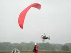 """I've always been dreaming of  owning this incredible thing:  Flying and bicycling, whatever one feels like - everything is possible with the FLYKE.   Traffic jam? - Just spread your """"wings"""" and fly.."""