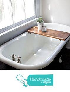 Modern Bathtub Tray Caddy - Wooden Bath Tub Caddy Smooth Natural Bath Shelf Walnut Computer Desk Gaming Board Clawfoot Tub Tray Handmade from WhiskyGinger http://www.amazon.com/dp/B0173XZMQI/ref=hnd_sw_r_pi_dp_mSmSwb0GDZQ2C #handmadeatamazon
