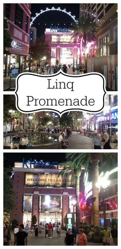 Take a stroll on the Linq Promenade to see the shops, nightlife, and restaurants, and the High Roller.