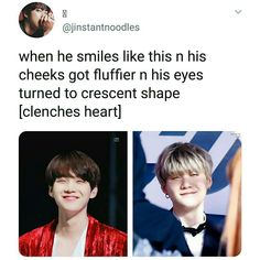 smiley yoongi is also a soft yoongi uwu Bts Namjoon, Taehyung, Bts Bangtan Boy, Kpop, I Love Bts, My Love, Jin, Rapper, Memes