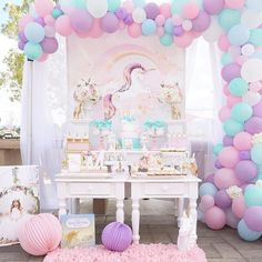 """Magical Unicorn Birthday Party """"Be A Unicorn In A Field Of Horses"""" TheIcedSugarCookie.com Created and Styled by M&J Kreations Event Stylist And Planner  R"""