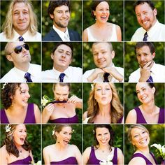 Headshot montage of the wedding party!
