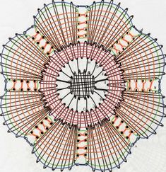 Fingertips: Circular carpet in bobbin lace Bobbin Lace Patterns, Knitting Patterns, Crochet Patterns, Diy Bralette, Dream Catcher Craft, Bobbin Lacemaking, Crochet Diy, Lace Heart, Lace Jewelry