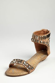 Studded Two-Piece #Sandals in Taupe By #MariaMare on HauteLoook