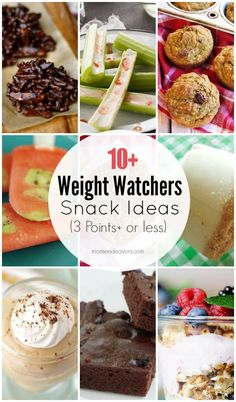 Homemade Weight Watchers Snack Recipes - a list of healthier snack ideas with 3 Points+ or less! Ww Recipes, Low Calorie Recipes, Snack Recipes, Cooking Recipes, Weekly Recipes, Diabetic Recipes, Healthy Recipes, Diet Food To Lose Weight, Weight Loss Meals