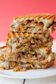 Pork Tenderloin Part Pork Panini with Balsamic Caramelized Onions — Bake, Braise & Broil Bbq Pork Sandwiches, Pork Tenderloin Sandwich, Bbq Sandwich, Pork Tenderloin Recipes, Panini Sandwiches, Gourmet Sandwiches, Cold Sandwiches, Best Panini Recipes, Healthy Sandwich Recipes