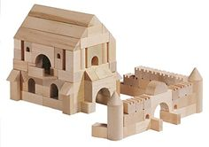 HABA Medieval Castle Architectural Wooden Building Blocks  110 Piece Set >>> Be sure to check out this awesome product.