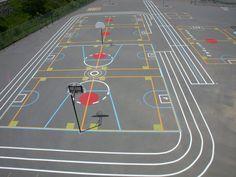 Nos réalisations - Marquage cour d'école Innova Jeux Inc.