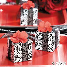 $3.00 for 24. could stuff with kisses as a baby shower favor. Black & White Gift Boxes, Paper Goody Bags & Boxes, Party Favor & Goody Bags, Party Themes & Events - Oriental Trading