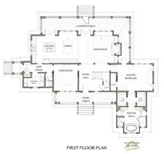 Love the floor plan here. 3 bed rooms upstairs and den/office down. Garage apt with man cave/guest suit needed too. Combahee Rest   Flatfish Island Designs, LLC