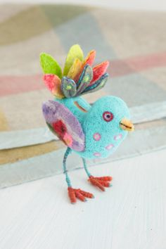 little felt bird.
