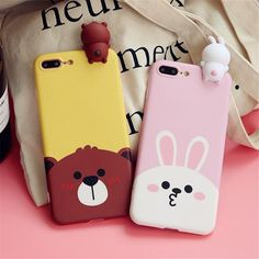 "LINE Friends ""Brown & Cony"" Case for iPhone – OhMyKawaiiShop.com"