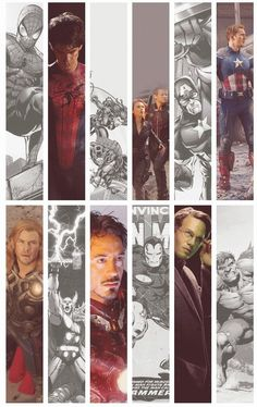 Marvel superheroes. Spiderman, Hawkeye and Black Widow, Captain America, Thor, Iron Man, And The Hulk