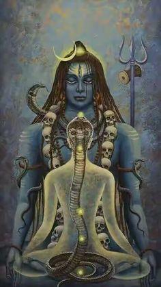 Lord Shiva and Kundalini Shiva Shakti, Shiva Art, Hindu Art, Yoga Mudra, Spiritual Tattoo, Magia Elemental, Amitabha Buddha, Shiva Lord Wallpapers, Lord Shiva Painting
