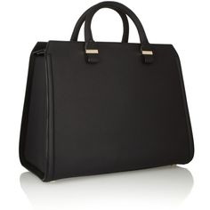 Victoria Beckham The Victoria matte-leather tote (4,015 CAD) ❤ liked on Polyvore featuring bags, handbags, tote bags, white tote, white leather handbags, genuine leather purse, leather tote bags and white leather tote
