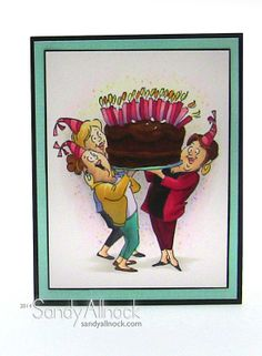 Giant Cake Girlfriends from Art Impressions... ...birthday card.
