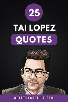 You probably know Tai Lopez for his love of books, and the 'here in my garage' video. Here are 25 inspirational Tai Lopez quotes for knowledge. Success quotes, inspirational quotes and motivational quotes / entrepreneur quotes are Tai's speciality! Inspirational Quotes About Success, Inspirational Quotes Pictures, Motivational Quotes For Life, Success Quotes, Motivation Quotes, The Success Club, What Is Success, Rich Quotes, Famous Quotes