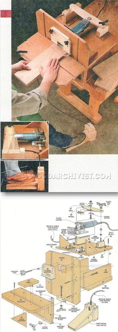 Ideas de herramientas caseras para bricolages economicos | Taringa! Cool Woodworking Projects, Router Woodworking, Woodworking Skills, Woodworking Shop, Wood Router Table, Workshop Layout, Wood Worker, Homemade Tools, Wooden Projects