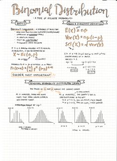 [day 29 of exam smackdown] of probability and stats notes! and these are prob my fav out of the 6 i think! heres part 2 and part 1 today was our last day of school and mAN was it emotional! weird feeling though bc ill still be coming back into . Revision Notes, Math Notes, Study Notes, College Notes, School Notes, Pretty Notes, Good Notes, E Learning, Statistics Notes