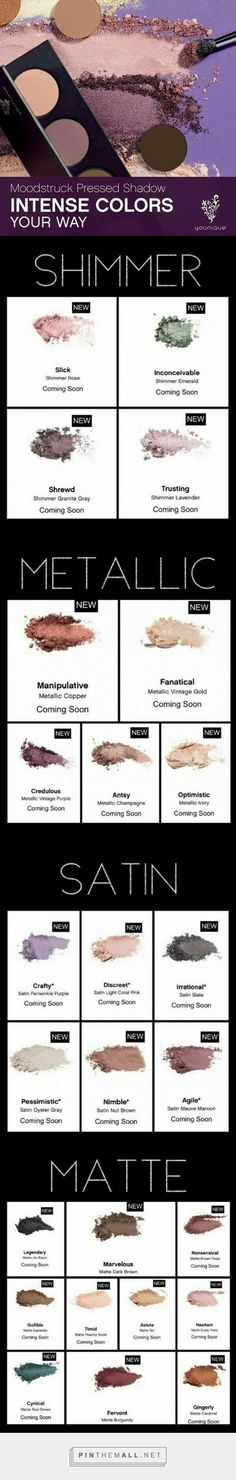 Eeekkk Sept can't come fast enough  said good bye to the pigment powders last month and next month's we say hello to the new Moodstruck Pressed Shadows