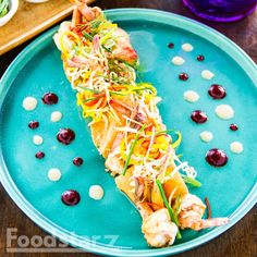 Soy Ginger Prawns, Kimchi Crepe, 'The Good Wife' Hit Sauce, Bean Sprouts