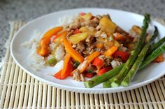 sweet & sour stir-fried pork with pineapple   a hint of honey