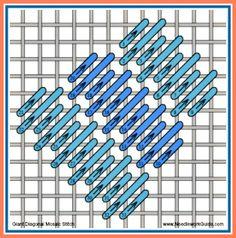 Giant Diagonal Mosaic Stitch #NeedlepointStitch