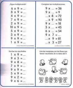 Cuaderno tablas de multiplicar (18) Multiplication Sheets, Multiplication Facts Worksheets, Mental Maths Worksheets, Math Sheets, Fractions, 4th Grade Math, Math Class, Math 2, Tools For Teaching
