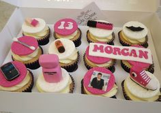 Teenager girly cupcakes Designer Wedding & Celebration cakes in Merseyside  www.icequeencakes.co.uk