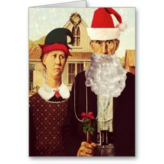 The famous American Gothic painting by Grant Wood is cheerfully altered for the Christmas Season. This celebrity couple wishes one a Merry Christmas in their own way. American Gothic Painting, Grant Wood American Gothic, American Gothic Parody, Merry Christmas And Happy New Year, Merry Xmas, Happy New Year 2020, New Year Card, Celebrity Couples, Funny Cute