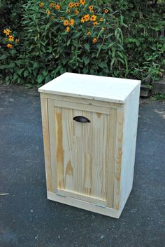 Wooden Wastebasket Hide Your Ugly Trash Can With This Brilliant Fix  Kitchen Design