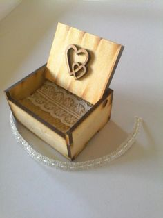 Laser cut wedding ring box #dienessie