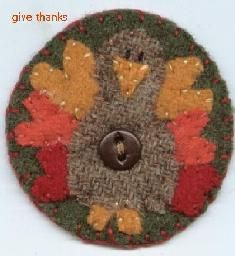 felted wool turkey pin