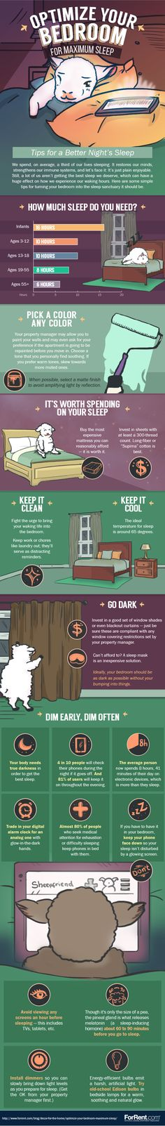 Psychology infographic & Advice Optimize Your Bedroom for Maximum Sleep. Image Description Optimize Your Bedroom for Maximum Sleep Health And Beauty, Health And Wellness, Health Tips, Health Fitness, Sleep Help, Good Night Sleep, How To Sleep, Can't Sleep, Mental Training