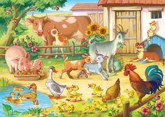 This pin was discovered by ramee arts. Farm Animals Preschool, Farm Cartoon, Baby Animals, Cute Animals, Animal Cartoon Video, Cute Pictures, Funny Animal Pictures, Picture Composition, Animal Tumblr