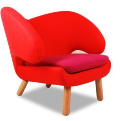 Red & Pink Pelican Lounge Chair