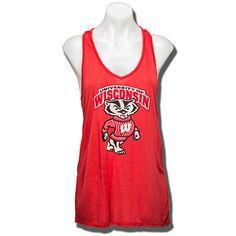 Stadium Chic University of Wisconsin Women's Tank Top (Red)