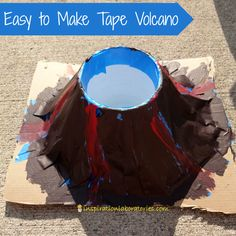 Easy to Make Tape Volcano - a fun way to play with baking soda and vinegar!