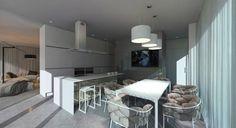Prefabricated House : Cucina minimalista di Aleksandr Zhydkov architect