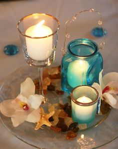 I knew there was a reason I lingered around the display table at Pier 1 today that had aqua beachy decor...will be going back now!
