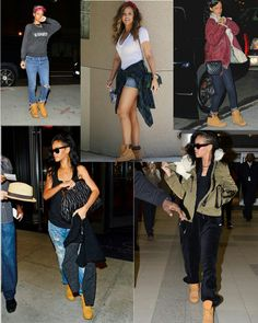 5156705cad8c She Knows How To Wear Her Timbaland Boots Timberland Outfits Women