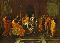 Moïse changeant en serpent la verge d'Aaron - Nicolas Poussin - Louvre.jpg