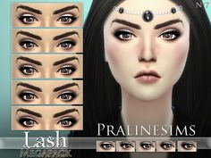The Sims Resource: Lash Megapack (5 Styles) by Pralinesims • Sims 4 Downloads