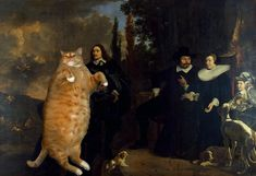 Fat orange tabby photo-bombs great masterworks of art. Scroll through for hilarity.