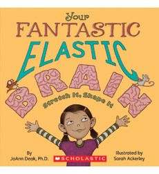"""Your Fantastic Elastic Brain.  Grade 4 growth mindset classroom guidance.  Open with Ned the Neuron video and end with """"stretch your brain"""" brain labeling activity."""